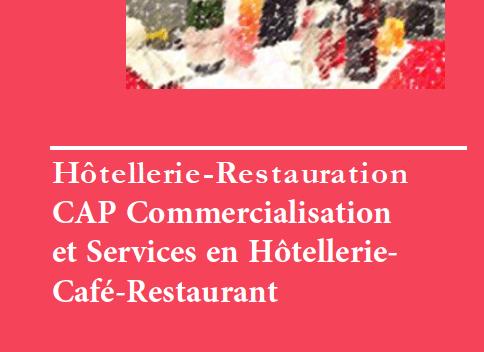 CAP Commercialisation et Services en Hôtellerie-Café-Restaurant