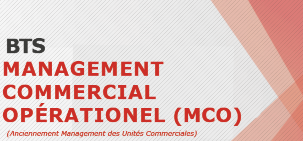 BTS Management Commercial Opérationnel (MCO)
