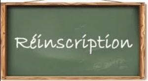 Procédure de réinscription des élèves