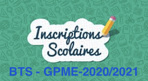 Constitution du dossier d'inscription BTS GPME – 2020/2021
