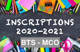 Constitution du dossier d'inscription BTS MCO – 2020/2021