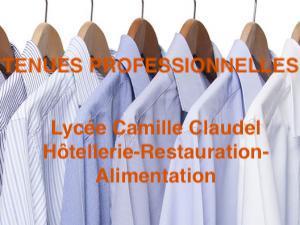 TENUES PROFESSIONELLES Seconde BAC PRO – CAP Hôtellerie-Restauration – Pâtisserie