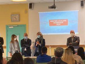 Rentrée 2020 : La présidente de région fait la rentrée des élèves au lycée Camille Claudel !