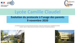 Read more about the article Nouvelles modalités de fonctionnement du lycée, protocole sanitaire renforcé à partir du 9 novembre