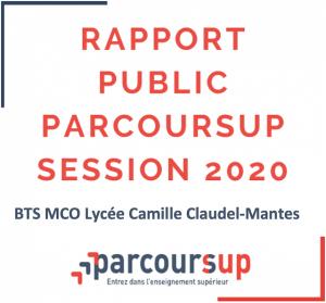 Rapport public Parcoursup session 2020