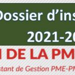 Dossier d'inscription BTS Gestion des Petites et Moyennes Entreprises (GPME)
